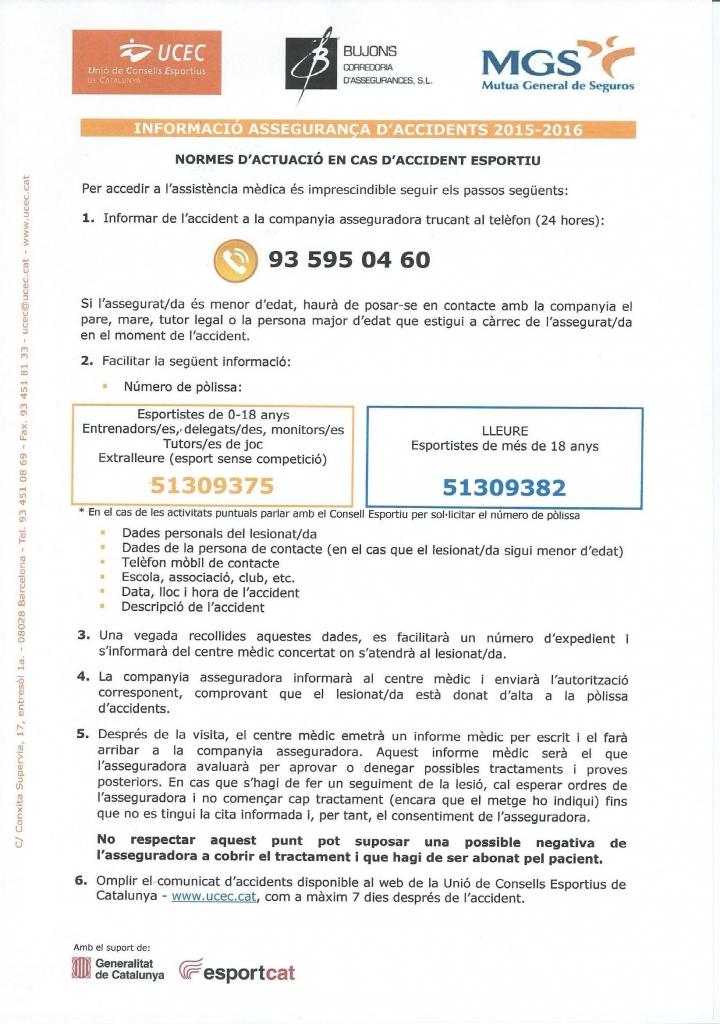 PROTOCOL ACTUACIO CAS ACCIDENT
