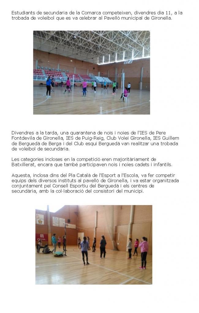 Trobada Voleibol secundaria escrit