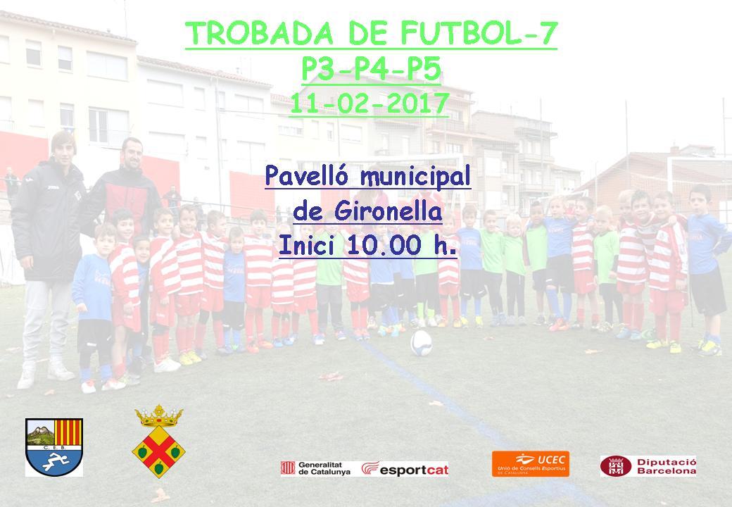 Cartell Trobada escolar futbol-7 P4-P5 16-17 Gironella